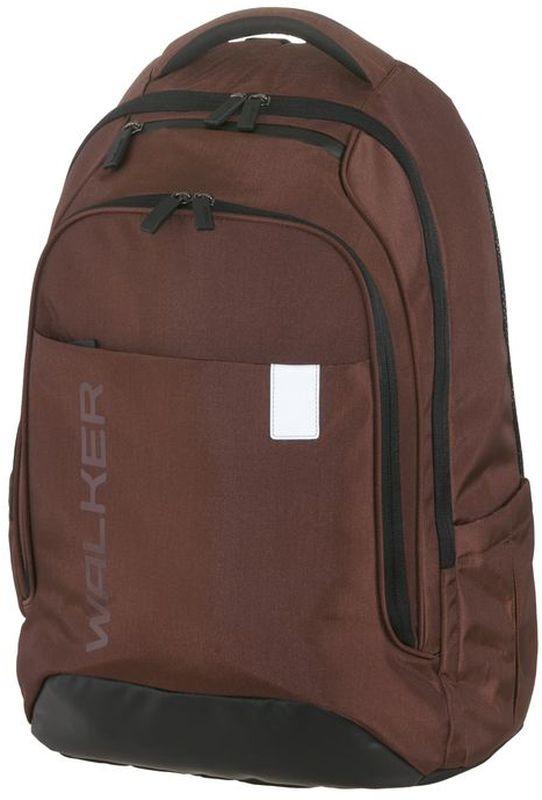 Walker Рюкзак школьный Clerk Decent Rost42149/38Вместительный школьный рюкзак Clerk Decent Rost имеет объем 32 литра и изготовлен из прочной нейлоновой влагоотталкивающей ткани. Рюкзак оснащен эргономичной спинкой с дышащей накладкой и вентилируемыми отверстиями, грудной стяжкой и уплотненными регулируемыми по высоте лямками из вентилируемого материала c массажным эффектом. Изделие имеет просторное основное отделение с гибким разделителем и отделение для ноутбука. Так же у рюкзака обнаруживается карман-органайзер, вместительный карман на застежке- молнии, кармашек на молнии на верхнем клапане, боковые кармашки на резиночке. Рюкзак имеет светоотражающие элементы, которые повышают безопасность ребенка, делая его заметнее на дороге в темное время суток.