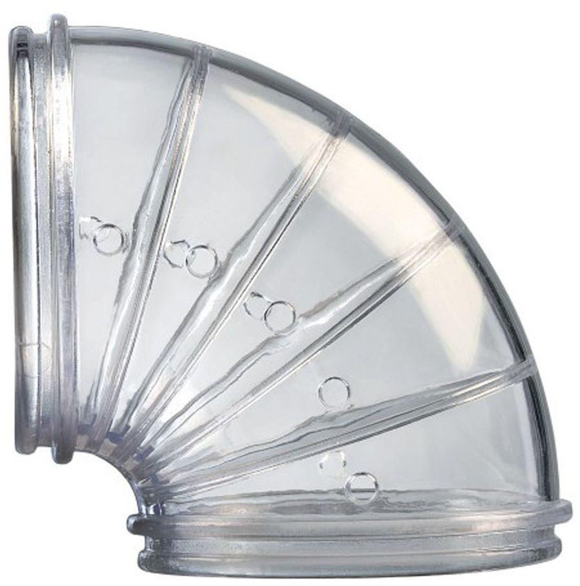 Угловые тоннели Rody, 2 шт., цвет: прозрачный205883Угловой тоннель для клеток Zolux. В упаковке 2 штуки.