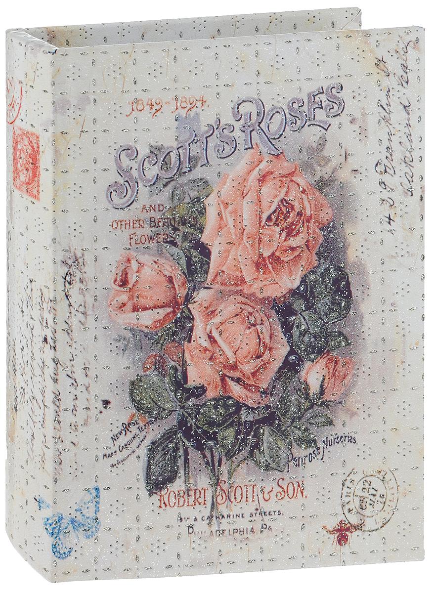 Шкатулка для рукоделия Bestex Чайные розы, 24х17х4,5см. YQ162117717211