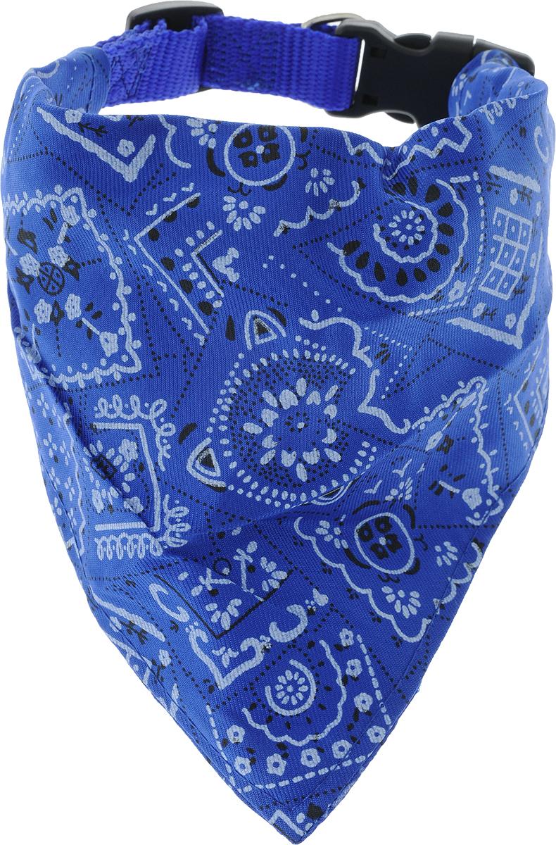 Ошейник для собак Каскад, с косынкой, цвет: синий, ширина 20 мм, длина 35-50 см00220041-06