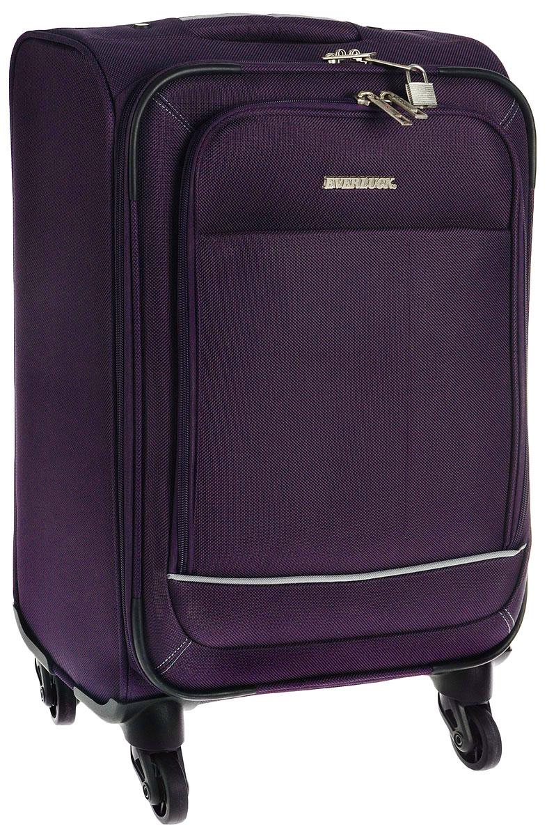 Чемодан текстильный Everluck, цвет: фиолетовый, 30 лER/ET1318 50 cm
