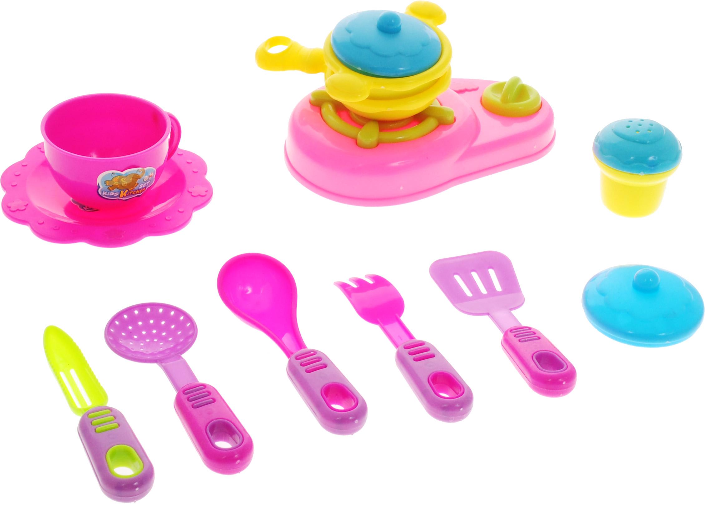 Shantou Игрушечный набор Кухня цвет плиты розовый