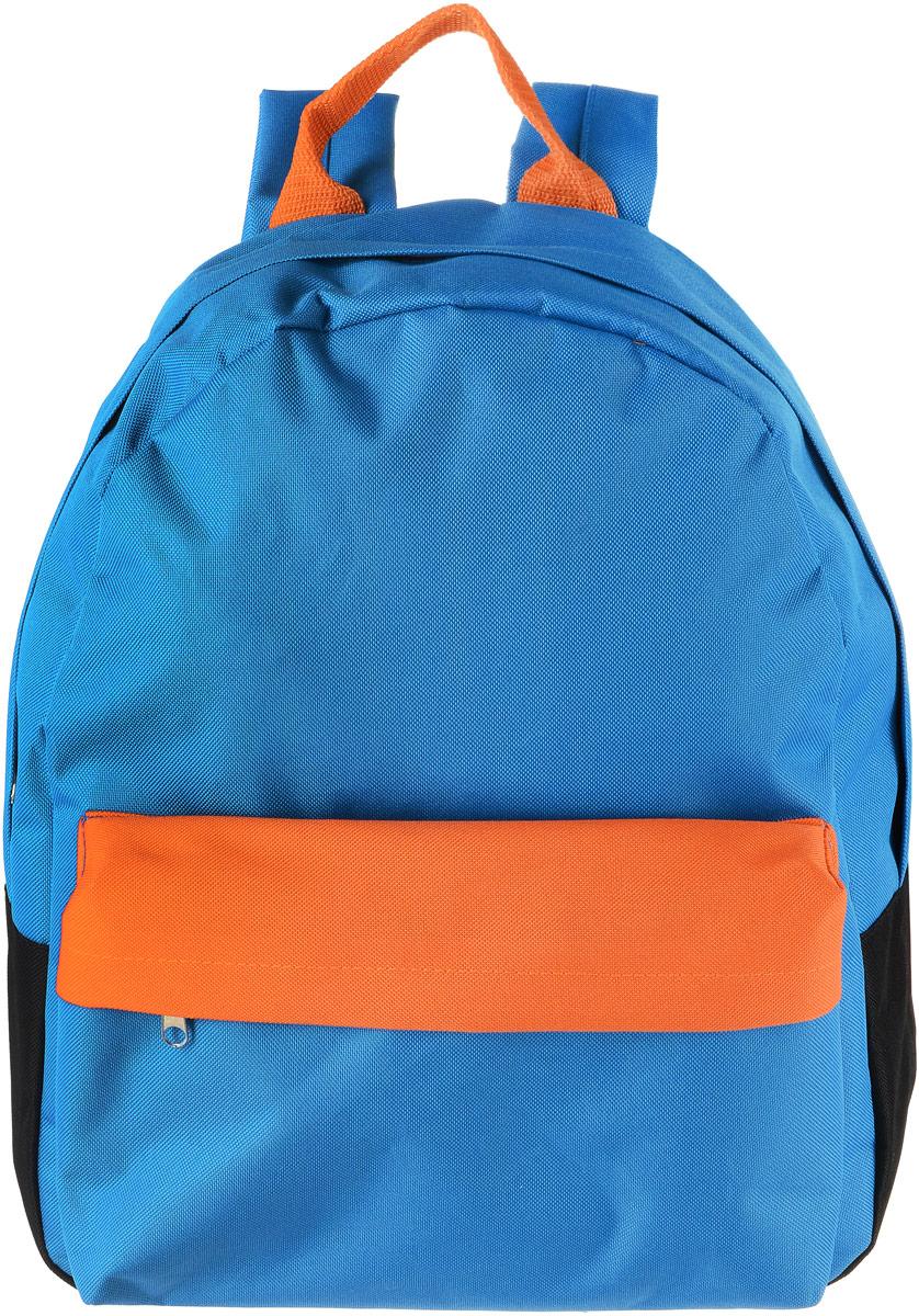 Рюкзак Аntan Ромашка, цвет: голубой. 6-76-7Яркий рюкзак Аntan Ромашкавыполнен из высококачественного полиэстера. На лицевой стороне расположен объемный накладной карман на молнии. Рюкзак оснащен удобными лямками, длина которых регулируется с помощью пряжек. Изделие закрывается с помощью застежки-молнии. Внутри расположено главное вместительное отделение, которое содержит отделение для ноутбука.