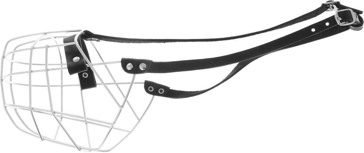 Намордник Каскад №9, обхват 38 см04423012чНамордник Каскад №9, выполненный из металла с ремешком из натуральной кожи, разработан специально для крупных пород собак и подходит под строение морды ротвейлера. Намордник очень удобный, не сковывает пасть животного при движении, не натирает благодаря минимальному числу сочленений и утопленным в кожаную часть намордника заклепкам. Надежно и крепко держится на морде вашего хвостатого друга. Обхват намордника: 38 см.