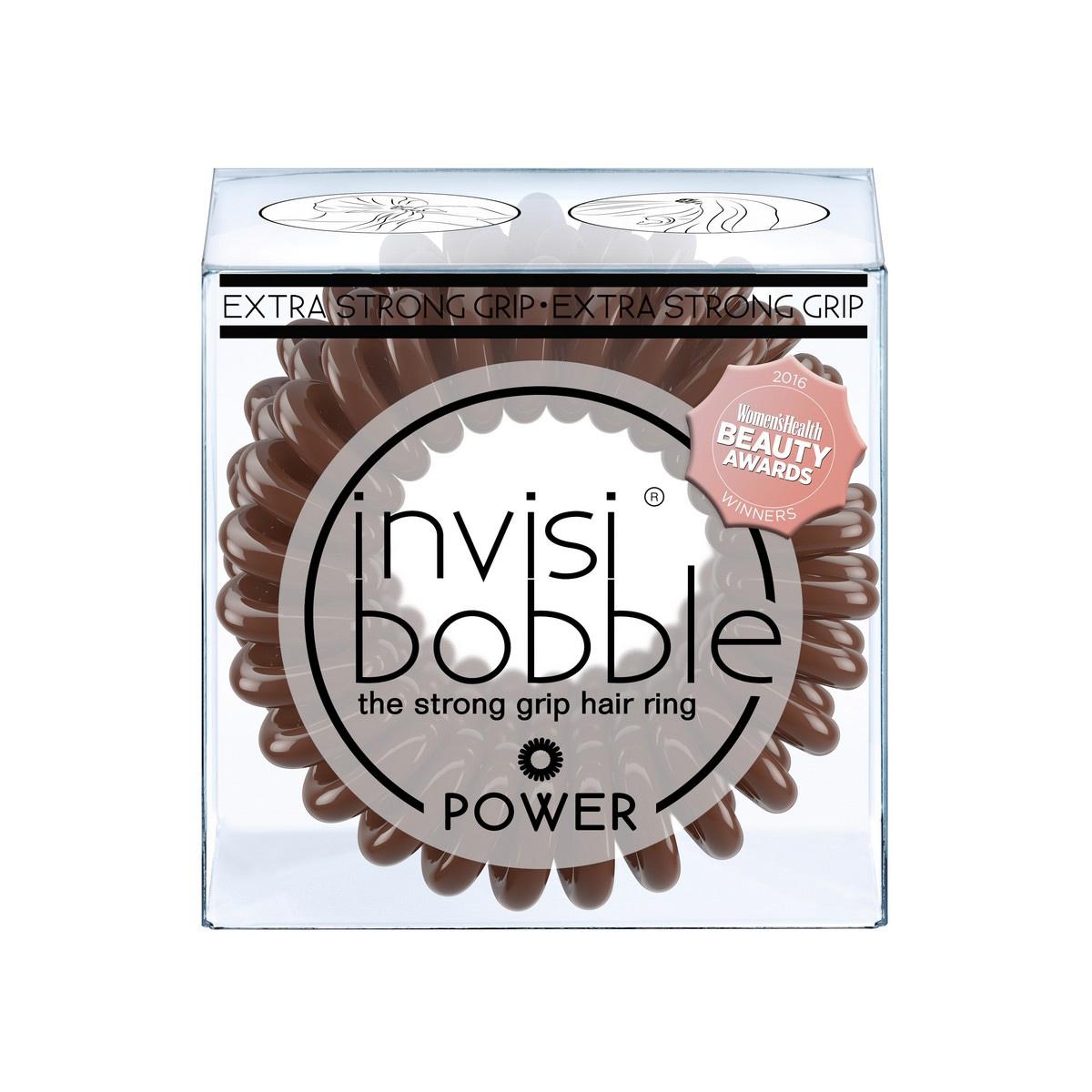 Резинка-браслет для волос Invisibobble Power Pretzel Brown3068Резинки-браслеты invisibobble коричневого цвета Pretzel Brown из обновлённой коллекции POWER идеально подойдут для поклонников классического стиля. Резинки-браслеты invisibobble POWER немного больше в размере, чем invisibobble ORIGINAL, а также имеют более плотные витки. Это позволяет плотно фиксировать волосы во время занятий спортом и активного отдыха. invisibobble POWER также идеальны для густых волос. Резинки-браслеты invisibobble подходят для всех типов волос, надежно фиксируют причёску, не оставляют заломы и не вызывают головную боль благодаря неравномерному распределению давления на волосы. Кроме того, они не намокают и не вызывают аллергию при контакте с кожей, поскольку изготовлены из искусственной смолы.