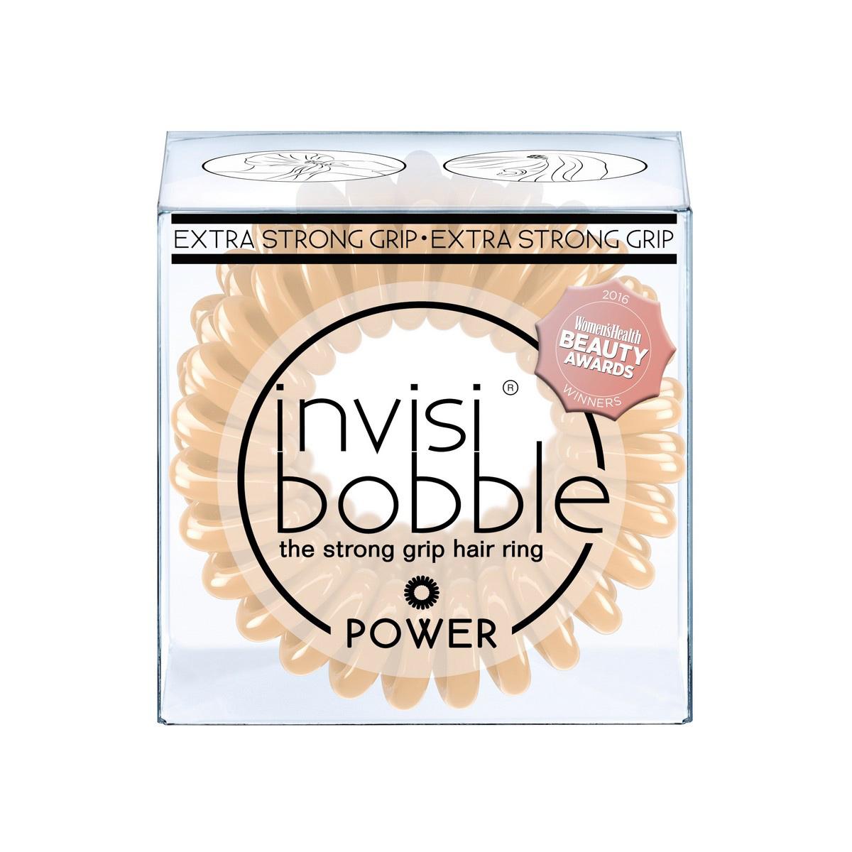 Резинка-браслет для волос Invisibobble Power To Be Or Nude To Be3069Резинки-браслеты invisibobble бежевого цвета To Be or Nude to Be из обновлённой коллекции POWER подчеркнут ваш естественный образ. Резинки-браслеты invisibobble POWER немного больше в размере, чем invisibobble ORIGINAL, а также имеют более плотные витки. Это позволяет плотно фиксировать волосы во время занятий спортом и активного отдыха. invisibobble POWER также идеальны для густых волос. Резинки-браслеты invisibobble подходят для всех типов волос, надежно фиксируют причёску, не оставляют заломы и не вызывают головную боль благодаря неравномерному распределению давления на волосы. Кроме того, они не намокают и не вызывают аллергию при контакте с кожей, поскольку изготовлены из искусственной смолы.