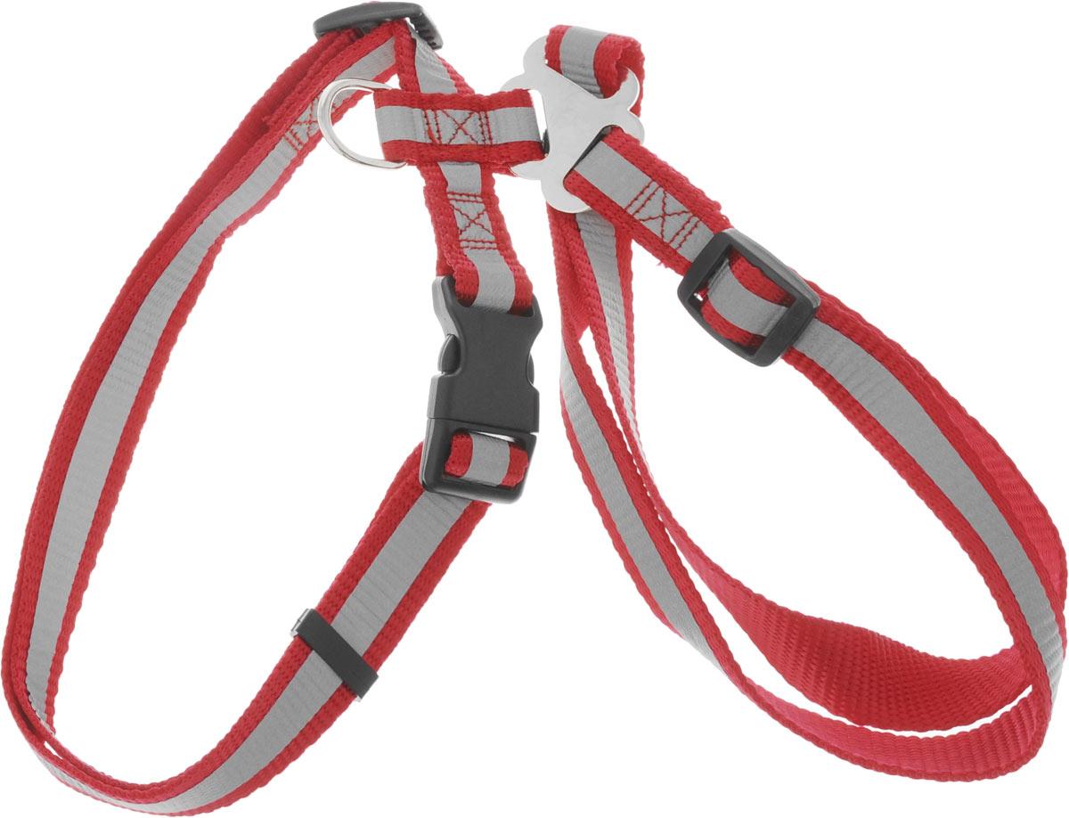 Шлейка для собак Каскад, со светоотражателем, цвет: красный, ширина 20 мм, обхват груди 35-50 см01220014-02Шлейка, изготовленная из прочного нейлона, подходит для собак средних пород. Крепкие металлические элементы делают ее надежной и долговечной. Шлейка - это альтернатива ошейнику. Правильно подобранная шлейка не стесняет движения питомца, не натирает кожу, поэтому животное чувствует себя в ней уверенно и комфортно. Размер регулируется при помощи пряжки. Изделие дополнено светоотражающим элементом. Обхват груди: 35-50 см. Ширина шлейки: 2 см.