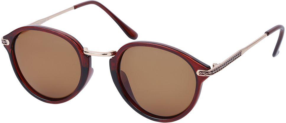 Очки солнцезащитные женские Fabretti, цвет: коричневый. E271673-1PE271673-1PЖенские солнцезащитные очки от итальянского бренда Fabretti – это изысканный аксессуар, который должен быть у каждой модницы в этом сезоне. Уникальная форма в ретро стиле и дизайнерская оправа из комбинации многослойного пластика и металла превращает модель в невероятно изысканный и яркий аксессуар, который подойдет под любой современный образ. Линзы кофейного цвета , большая степень защиты от ультрафиолетовых лучей, - все это предотвратит усталость глаз, а поляризационное покрытие с легкостью отразит различные блики, с помощью чего очки станут прекрасной находкой для автолюбительниц!