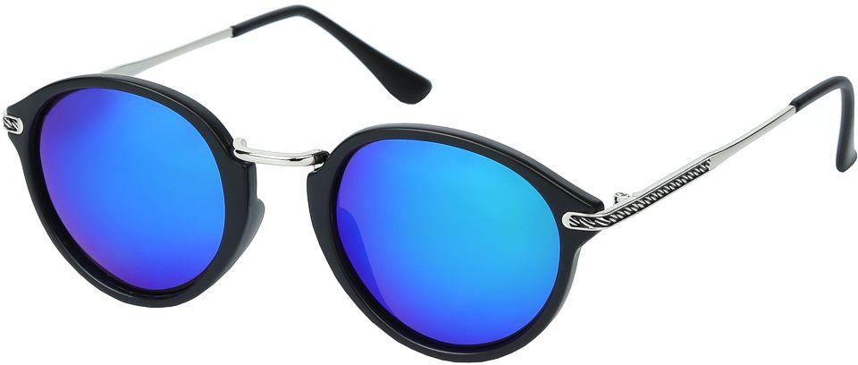Очки солнцезащитные женские Fabretti, цвет: черный, синий. E271673-2PZE271673-2PZЖенские солнцезащитные очки от итальянского бренда Fabretti – это изысканный аксессуар, который должен быть у каждой модницы в этом сезоне. Уникальная форма в ретро стиле и дизайнерская оправа из комбинации многослойного пластика и металла превращает модель в невероятно изысканный и яркий аксессуар, который подойдет под любой современный образ. Линзы цвета хамелеон, зеркальное напыление и большая степень защиты от ультрафиолетовых лучей, - все это предотвратит усталость глаз, а поляризационное покрытие с легкостью отразит различные блики, с помощью чего очки станут прекрасной находкой для автолюбительниц!