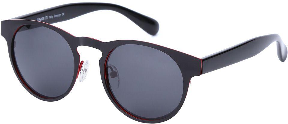 Очки солнцезащитные женские Fabretti, цвет: черный. E279101-3PE279101-3PДизайнерские очки от итальянского бренда Fabretti призваны для того, чтобы украсить и дополнить ваш яркий образ. Классический черный цвет в сочетании с насыщенным красным оттенком, превращают модель в роскошный аксессуар, наполненный шиком итальянской моды. Изысканная круглая форма и линзы плотного черого цвета подойдут к любому цветотипу и форме лица. А прочный металл, поляризационное покрытие и крепление дужек позволят изумлять окружающих на протяжении нескольких сезонов!