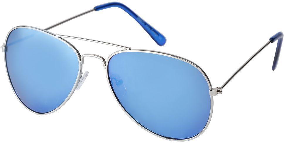 Очки солнцезащитные женские Fabretti, цвет: серебристый, голубой. F3714089-2ZF3714089-2ZЯркие женские очки-авиаторы от итальянского бренда Fabretti предназначены стать изысканным украшение любого образа. Модный сине- зеленый цвет линз прекрасно дополнит как повседневный, так и классический стиль. Прочная металлическая оправа, аккуратные дужки и зеркальное покрытие превратили очки, в аксессуар, который еще долго будет оставаться на пике моды. В комплектации с очками чехол, который можно использовать как салфетку.