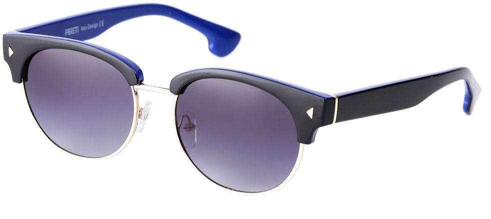 Очки солнцезащитные женские Fabretti, цвет: черно-синий, фиолетовый. F3714284-1GF3714284-1GСтильные женские очки от итальянского бренда Fabretti выполнены из пластика с добавлением прочного металла. Яркое сочетание черного и синего цвета придает модели настоящую нотку итальянского шика. Ультрамодная прямоугольная оправа в стиле 60-х, мягкое градиентное покрытие линз и золотая фурнитура с легкостью подчеркнут ваш изумительный вкус. В комплектации с очками чехол, который можно использовать как салфетку.