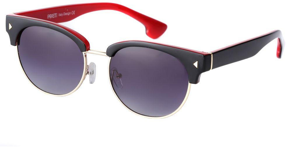 Очки солнцезащитные женские Fabretti, цвет: черный, темно-синий, красный. F3714284-2GF3714284-2GСтильные женские очки от итальянского бренда Fabretti выполнены из пластика с добавлением прочного металла. Яркое сочетание черного и красного цвета придает модели настоящую нотку итальянского шика. Ультрамодная прямоугольная оправа, мягкое градиентное покрытие линз и золотая фурнитура с легкостью подчеркнут ваш изумительный вкус.
