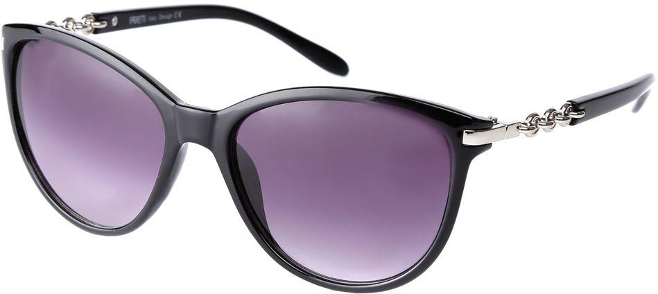Очки солнцезащитные женские Fabretti, цвет: черный, фиолетовый. F3715424-1GF3715424-1GИзысканные женские очки от итальянского бренда Fabretti выполнены из многослойного пластика и прочного металла. Невероятно модная в этом сезоне форма оправы в стиле кошачий глаз и мягкое градиентное покрытие придают модели невероятную утонченность и актуальность в будущем сезоне.Коричневый цвет линз и изысканное украшение дужек прекрасно дополнят любой стиль одежды. В комплектации с очками чехол, который можно использовать как салфетку.