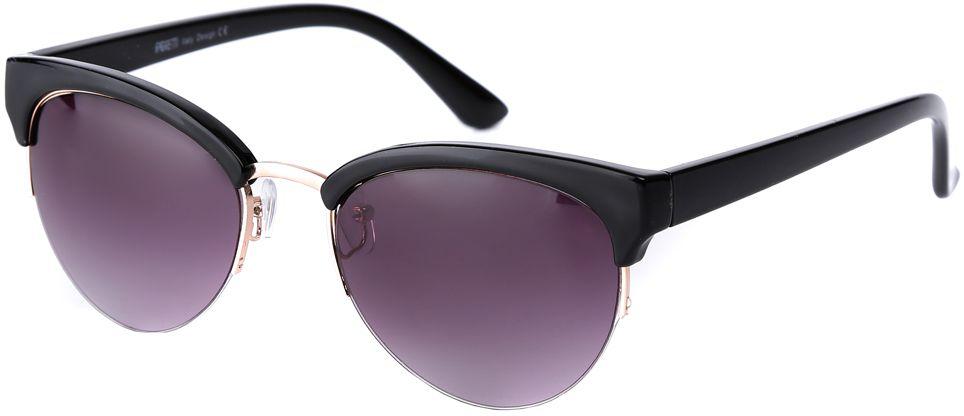 Очки солнцезащитные женские Fabretti, цвет: черный, пурпурный. F3715589-2GF3715589-2GИзысканные женские очки от итальянского бренда Fabretti выполнены из пластика с добавлением прочного металла. Невероятно модная в этом сезоне форма кошачьего глаза, оправа в классическом черном цвете и золотая фурнитура придает модели настоящую нотку итальянского шика. Серый цвет линз и мягкое градиентное покрытие превращают модель в универсальный аксессуар, который прекрасно дополнит любой стиль одежды. В комплектации с очками чехол, который можно использовать как салфетку.