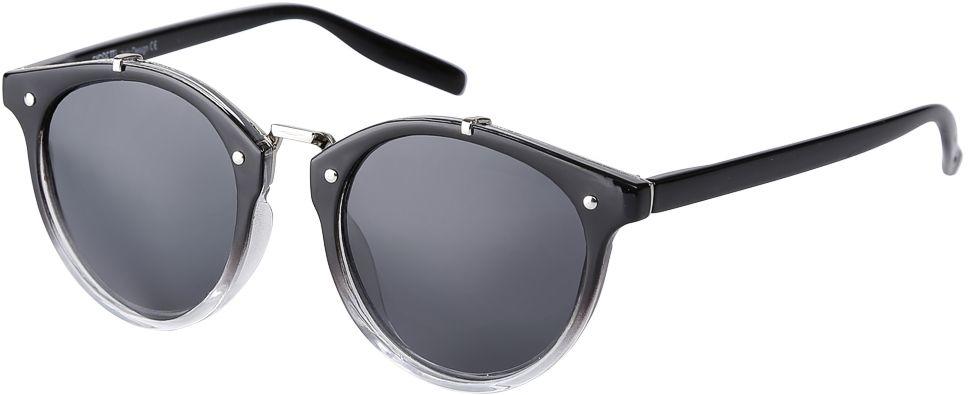 Очки солнцезащитные женские Fabretti, цвет: черный, прозрачный. F3715623-2PF3715623-2PДизайнерские женские очки от итальянского бренда Fabretti выполнены из пластика с добавлением прочного металла. Круглая форма оправы, стильный переход черного цвета в стиле омбре превращают модель в яркий и изысканный аксессуар, который дополнит любой современный образ. Аккуратные дужки и фурнитура в серебряном цвете с легкостью подчеркнут ваш изумительный вкус. В комплектации с очками чехол, который можно использовать как салфетку.