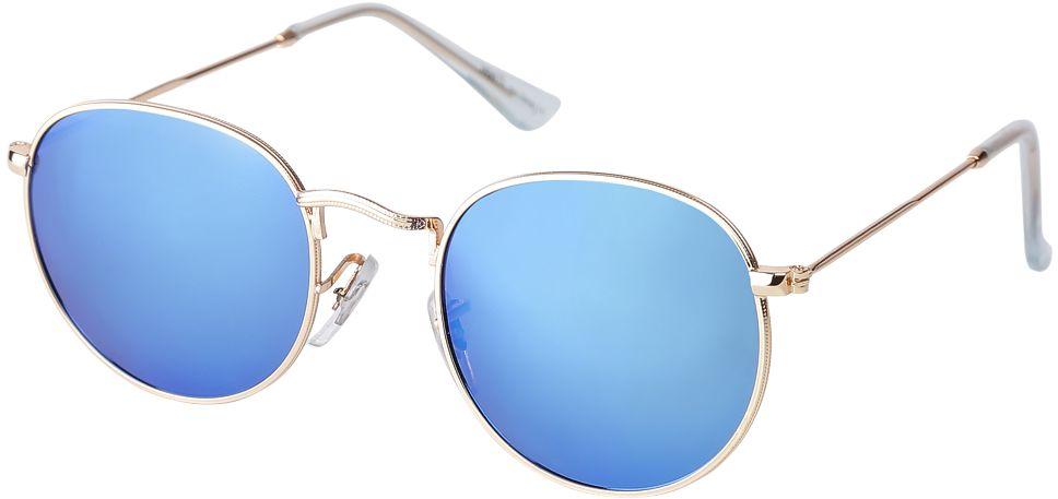 Очки солнцезащитные женские Fabretti, цвет: золотистый, голубой. F37161224-1ZF37161224-1ZАккуратные женские очки от итальянского бренда Fabretti выполнены из прочного металла. Яркие зеркальные линзы в желтом цвете прекрасно дополнят любой весенне-летний образ. Овальная форма, миниатюрные дужки придают модели нотки невероятного изящества. В комплектации с очками чехол, который можно использовать как салфетку.