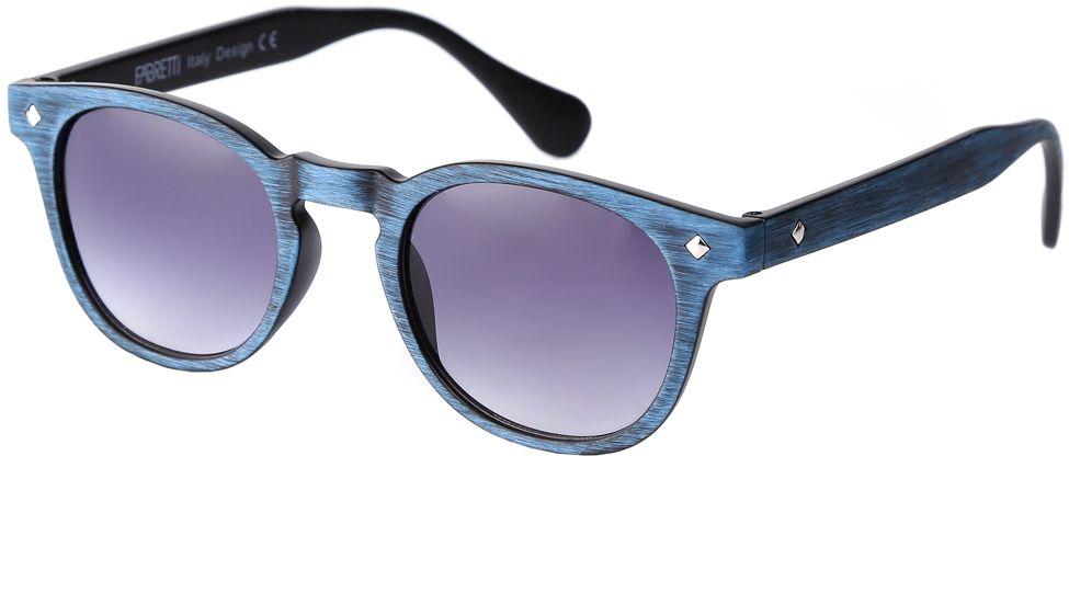 Очки солнцезащитные женские Fabretti, цвет: синий, фиолетовый. F37161812-1GF37161812-1GИзысканные женские очки от итальянского бренда Fabretti выполнены из многослойного пластика. Невероятно модная в этом сезоне форма оправы, стильная фактурная поверхность, сочетание синего и черного цвета придает модели невероятную утонченность и актуальность в будущем сезоне.Серый цвет линз и мягкое градиентное покрытие превращают модель в универсальный аксессуар, который прекрасно дополнит любой стиль одежды. В комплектации с очками чехол, который можно использовать как салфетку.