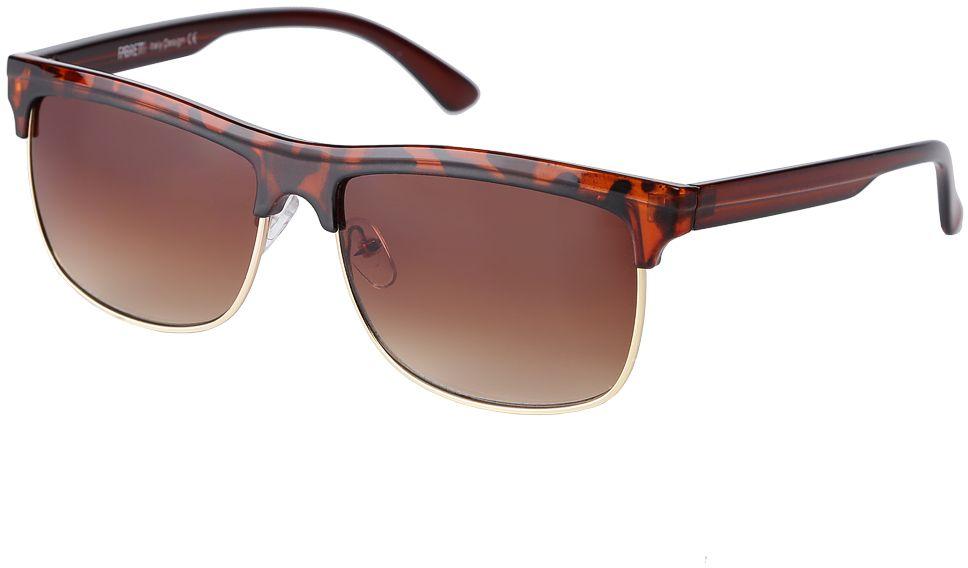 Очки солнцезащитные женские Fabretti, цвет: коричневый. F377111-2GF377111-2GЭлегантные женские очки от итальянского бренда Fabretti выполнены из многослойного пластика с добавлением прочного металла. Яркий анималистический принт и коричневый цвет линз придает модели настоящую нотку итальянского шика. Ультрамодная прямоугольная оправа, мягкое градиентное покрытие линз и золотая фурнитура с легкостью подчеркнут ваш изумительный вкус.