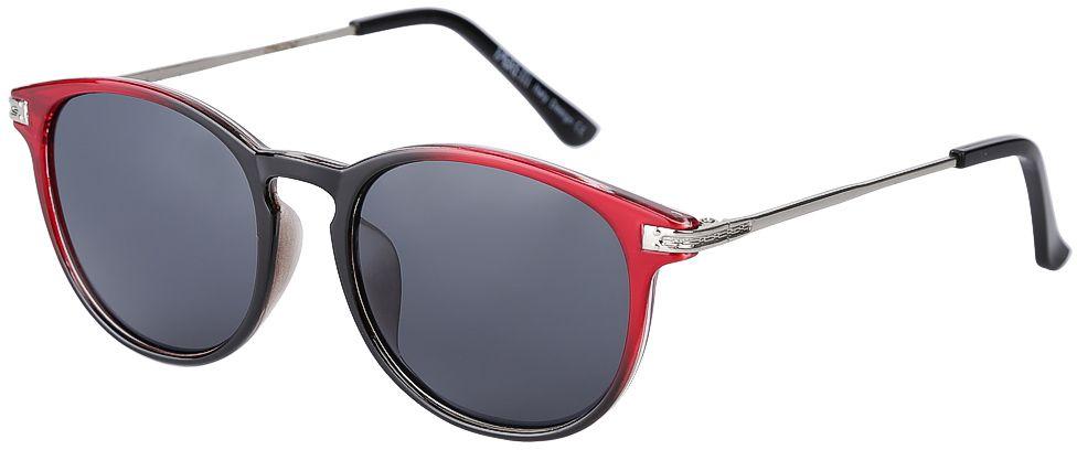 Очки солнцезащитные женские Fabretti, цвет: черный, красный, серебряный. F377388-2F377388-2Элегантные женские очки от итальянского бренда Fabretti выполнены из пластика с добавлением прочного металла. Изысканная форма оправы и плавный переход из черного в бордовый цвет превращают модель в яркий и изысканный аксессуар, который дополнит любой образ. Аккуратные дужки в серебряном цвете с легкостью подчеркнут ваш изумительный вкус.