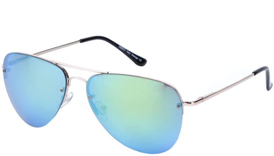 Очки солнцезащитные женские Fabretti, цвет: золотистый, бирюзовый. J171398-1ZJ171398-1ZЯркие женские очки-авиаторы от итальянского бренда Fabretti – это изысканный аксессуар, который должен быть у каждой модницы в этом сезоне. Дизайнерская форма прекрасно подчеркнет ваши скулы, а серебряная фурнитура и стильные зеленые линзы придадут вашему образу яркости и экстравагантности. Зеркальное покрытие, высокая степень защиты от солнечных лучей и надежные крепления помогут приковывать взгляды окружающих протяжении нескольких модных сезонов.