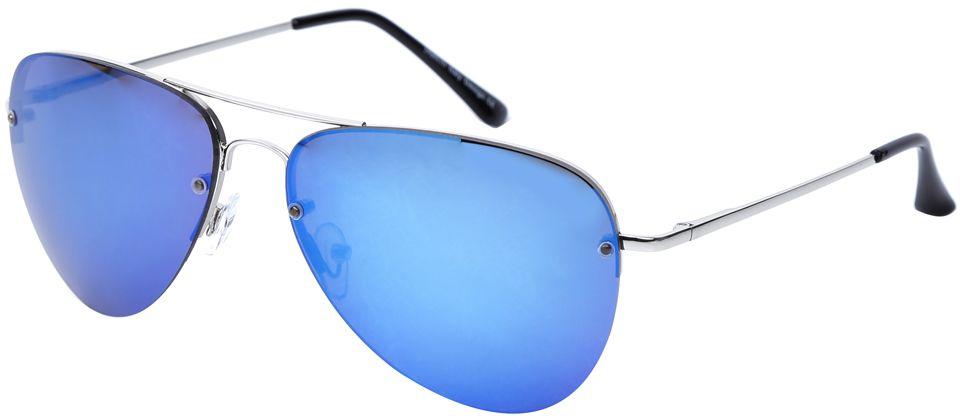 Очки солнцезащитные женские Fabretti, цвет: серебристый, синий. J171398-2ZJ171398-2ZЯркие женские очки-авиаторы от итальянского бренда Fabretti – это изысканный аксессуар, который должен быть у каждой модницы в этом сезоне. Дизайнерская форма прекрасно подчеркнет ваши скулы, а серебряная фурнитура и стильные синие линзы придадут вашему образу яркости и экстравагантности. Зеркальное покрытие, высокая степень защиты от солнечных лучей и надежные крепления помогут приковывать взгляды окружающих протяжении нескольких модных сезонов.Аксессуар очень удобен для вождения, а также незаменим на отдыхе.
