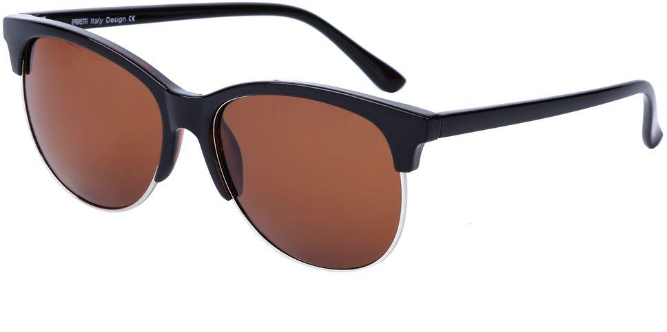 Очки солнцезащитные женские Fabretti, цвет: черный, коричневый. J173607-1PJ173607-1PСтильные женские очки от итальянского бренда Fabretti выполнены в ультрамодном стиле клабмастер, который прекрасно подойдет ко всем типам лица. Наши дизайнеры черпали свое вдохновение в модных показах 60-х годов, и создали уникальную модель, которая дополнит любой современный образ. Элегантное сочетание коричневызз линз и темно-кофейной оправы придаст любому образу нотки экстравагантности и элегантности. Высокая степень защиты от солнечных лучей и надежное крепление дужек, - все это превращает модель в уникальный аксессуар, который будет украшать вас на протяжении нескольких модных сезонов.