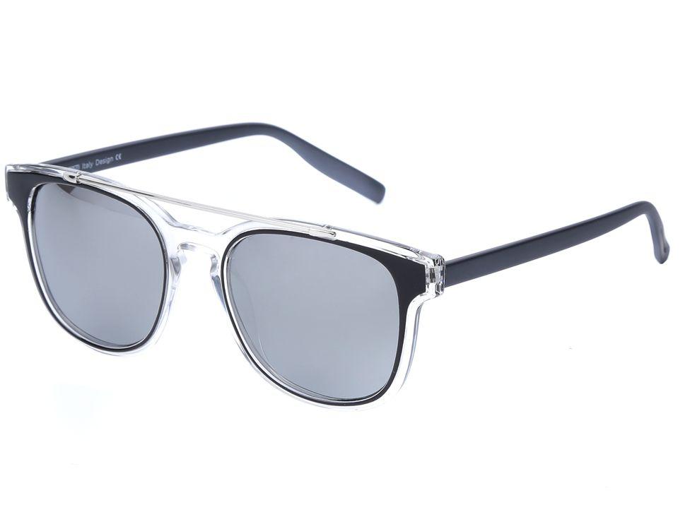 Очки солнцезащитные женские Fabretti, цвет: темно-серый, прозрачный. J173898-1PZJ173898-1PZЭксклюзивные женские очки от итальянского бренда Fabretti соединили в себе элементы ретро-стиля и оправы «авиатор», который прекрасно подойдет ко всем типам лица. Наши дизайнеры черпали свое вдохновение в модных показах 60-х годов и создали уникальную модель, которая дополнит как классический, так и романтический образ. Элегантное сочетание черного, серого и серебряного цвета оправы придаст любому образу нотки итальянского шика, а зеркальные линзы подчеркнут вашу яркость и экстравагантность. Высокая степень защиты от солнечных лучей и надежное крепление дужек, - все это превращает модель в уникальный аксессуар, который будет украшать вас на протяжении нескольких модных сезонов.