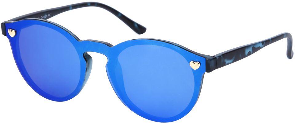 Очки солнцезащитные женские Fabretti, цвет: синий, темно-синий. J174406-2PZJ174406-2PZЯркие женские очки от итальянского бренда Fabretti выполнены в ультрамодной форме панто, которая воссоздает элегантность и утонченность 60-х годов. Отсутствие оправы, зеленый оттенок, переходящий в желтый цвет, и зеркальные линзы добавять в ваш образ современный шик. Поляризационное покрытие, фурнитура в виде миниатюрных сердец, высокая степень защиты от солнечных лучей, - все это превращает модель в прочные и стильные очки, которые будут украшать вас и привлекать внимание окружающих на протяжении нескольких модных сезонов.