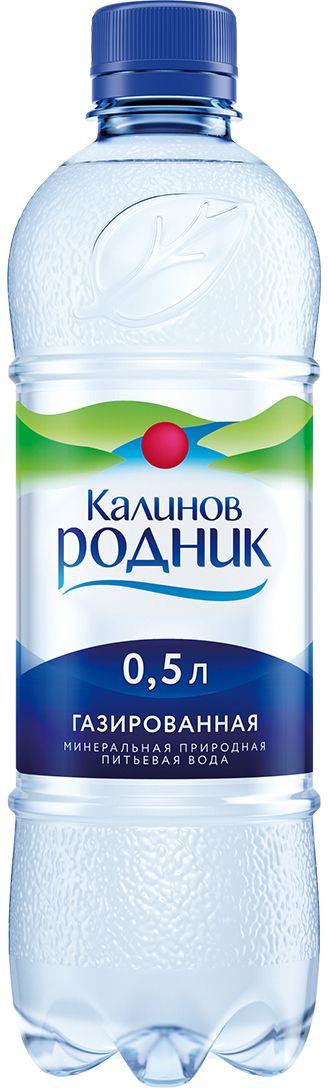 Калинов Родник минеральная питьевая газированная вода, 12 штук по 0,5 л