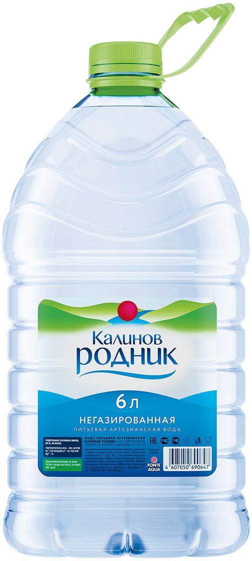 Калинов Родник питьевая артезианская негазированная вода, 6 л