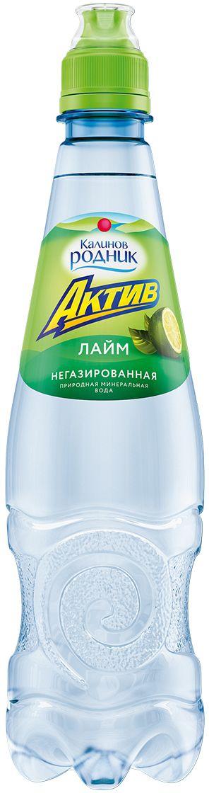 "Калинов Родник ""Актив"" со вкусом лайма, 0,5 л 4607050693686"