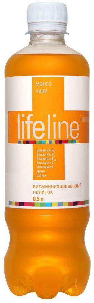 Lifeline Immunity манго, киви, 0,5 л4607050695284Lifeline - функциональные витаминные напитки, созданные для людей, которые заботятся о своем здоровье и хотят, чтобы их жизнь была яркой, насыщенной и интересной. Витаминные комплексы, входящие в состав напитка, помогут устранить дефицит витаминов в организме, а разнообразие вкусов и свойств позволит каждому выбрать напиток себе по душе. Напитки Lifeline - удовольствие и польза в одной бутылке!