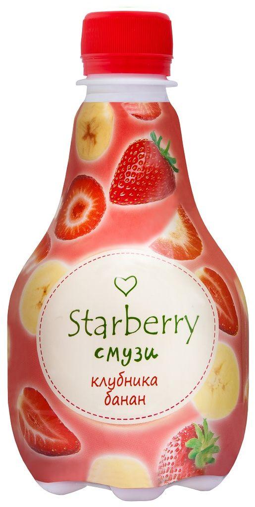 Starberry смузи клубника, банан, 0,375 л4607050695581Смузи на основе 100% натурального сока понравится любителям необычных вкусовых сочетаний. Ощутить сладкую тропическую свежесть и притягательную силу сочных фруктов – легко. Просто попробуйте Starberry смузи и испытайте истинное удовольствие!