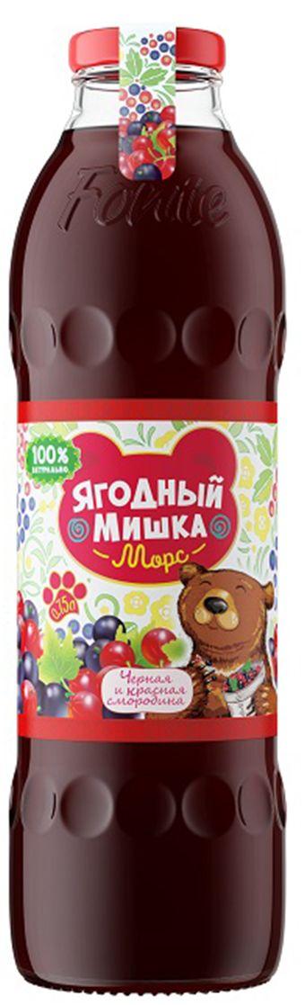 """Калинов Родник """"Ягодный Мишка"""" морс черная, красная смородина, 0,75 л 4607050696489"""