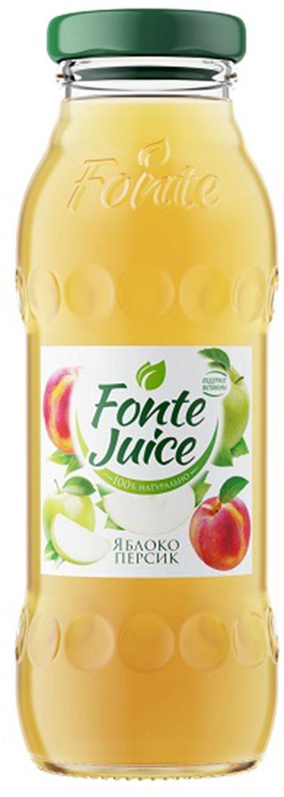 Fonte juice Нектар яблоко, персик, 0,2 л4607050696717Сочный вкус и свежий аромат спелых зеленых яблок напоминают о раннем летнем утре, а легкие персиковые нотки дарят сладкое послевкусие, смягчая яблочную прохладу. Источник твоей легкости! Рекомендовано к употреблению с 5 лет.