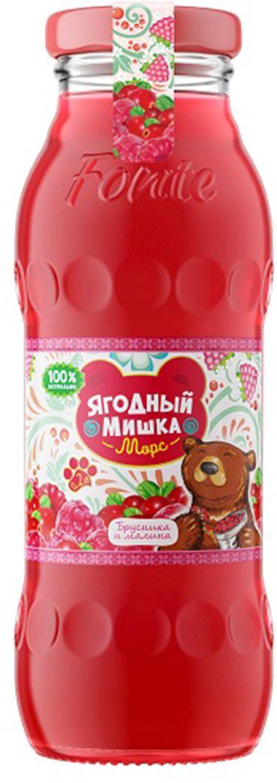"""Калинов Родник """"Ягодный Мишка"""" морс брусника, малина, 0,2 л 4607050696823"""