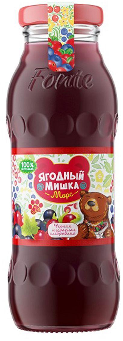 """Калинов Родник """"Ягодный Мишка"""" морс черная, красная смородина, 0,2 л 4607050696861"""
