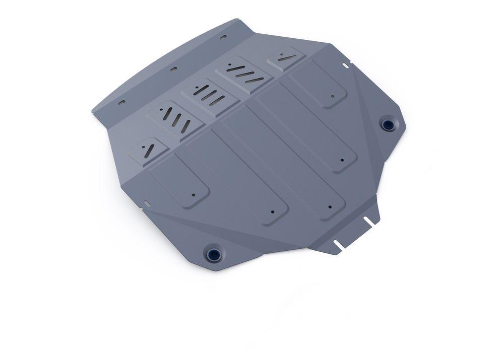 Защита картера и КПП Rival, для ACURA MDX, алюминий 4 мм333.0101.1Защита картера и КПП для ACURA MDX, V - 3,5 2014-2015, крепеж в комплекте, алюминий 4 мм, Rival Алюминиевые защиты картера Rival надежно защищают днище вашего автомобиля от повреждений, например при наезде на бордюры, а также выполняют эстетическую функцию при установке на высокие автомобили. - Толщина алюминиевых защит в 2 раза толще стальных, а вес при этом меньше до 30%. - Отлично отводит тепло от двигателя своей поверхностью, что спасает двигатель от перегрева в летний период или при высоких нагрузках. - В отличие от стальных, алюминиевые защиты не поддаются коррозии, что гарантирует срок службы защит более 5 лет. - Покрываются порошковой краской, что надолго сохраняет первоначальный вид новой защиты и защищает от гальванической коррозии. - Глубокий штамп дополнительно усиливает конструкцию защиты. - Подштамповка в местах крепления защищает крепеж от срезания. - Технологические отверстия там, где...
