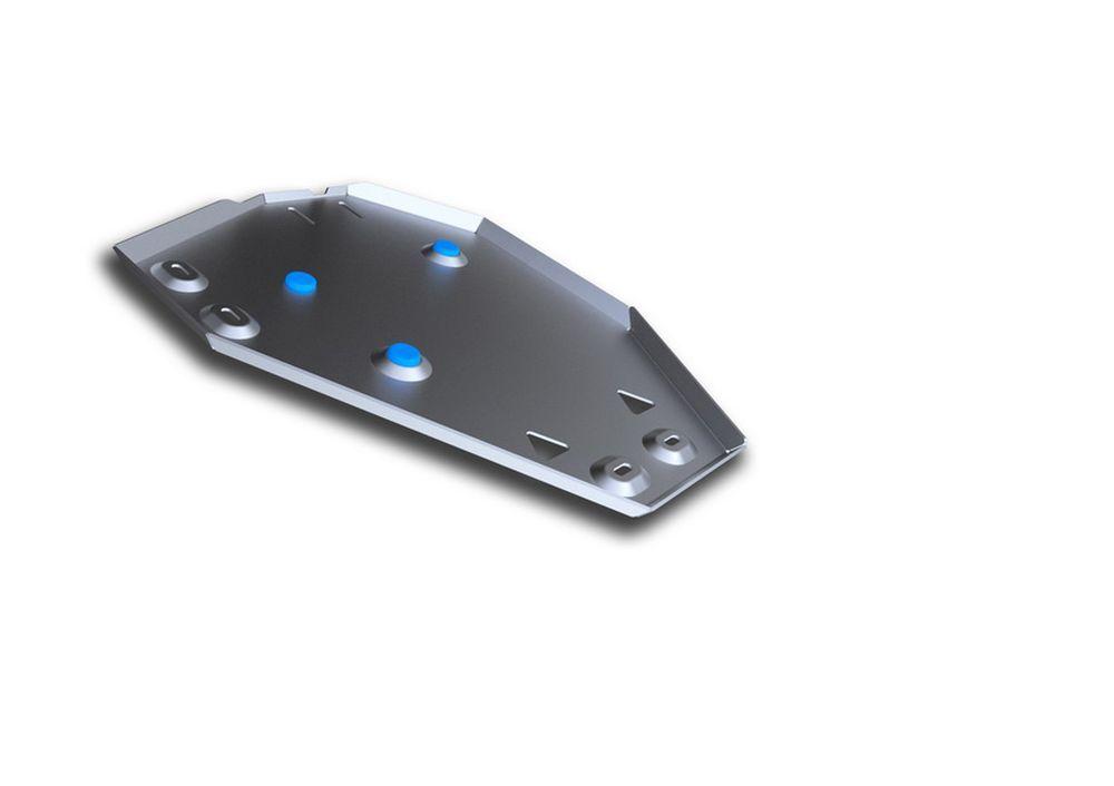 Защита топливного бака Rival, для Hyundai Santa Fe Premium, алюминий 4 мм333.2338.1Защита топливного бака для Hyundai Santa Fe Premium , V - 2,2D, 2,4i 2015-, крепеж в комплекте, алюминий 4 мм, Rival Алюминиевые защиты картера Rival надежно защищают днище вашего автомобиля от повреждений, например при наезде на бордюры, а также выполняют эстетическую функцию при установке на высокие автомобили. - Толщина алюминиевых защит в 2 раза толще стальных, а вес при этом меньше до 30%. - Отлично отводит тепло от двигателя своей поверхностью, что спасает двигатель от перегрева в летний период или при высоких нагрузках. - В отличие от стальных, алюминиевые защиты не поддаются коррозии, что гарантирует срок службы защит более 5 лет. - Покрываются порошковой краской, что надолго сохраняет первоначальный вид новой защиты и защищает от гальванической коррозии. - Глубокий штамп дополнительно усиливает конструкцию защиты. - Подштамповка в местах крепления защищает крепеж от срезания. - Технологические...