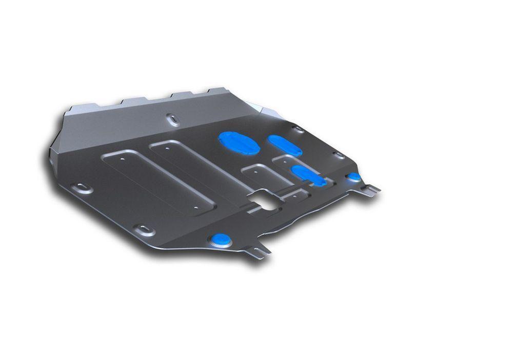 Защита картера и КПП Rival, для Hyundai Elantra, алюминий 4 мм333.2363.1Защита картера и КПП для Hyundai Elantra , АКПП, V - 1,6; 2,0 2016-, крепеж в комплекте, алюминий 4 мм, Rival Алюминиевые защиты картера Rival надежно защищают днище вашего автомобиля от повреждений, например при наезде на бордюры, а также выполняют эстетическую функцию при установке на высокие автомобили. - Толщина алюминиевых защит в 2 раза толще стальных, а вес при этом меньше до 30%. - Отлично отводит тепло от двигателя своей поверхностью, что спасает двигатель от перегрева в летний период или при высоких нагрузках. - В отличие от стальных, алюминиевые защиты не поддаются коррозии, что гарантирует срок службы защит более 5 лет. - Покрываются порошковой краской, что надолго сохраняет первоначальный вид новой защиты и защищает от гальванической коррозии. - Глубокий штамп дополнительно усиливает конструкцию защиты. - Подштамповка в местах крепления защищает крепеж от срезания. - Технологические...