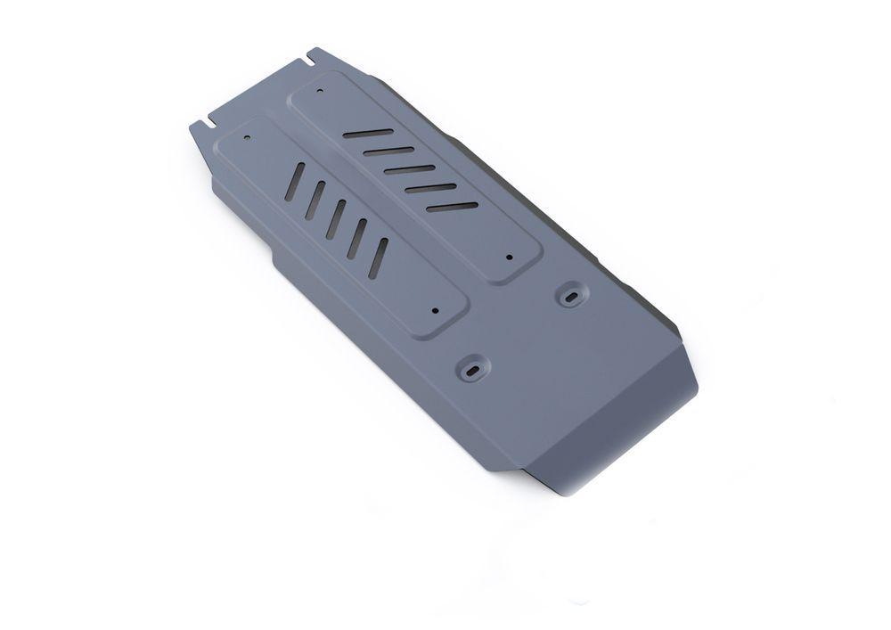 Защита КПП и РК Rival, для Infiniti Q70, алюминий 4 мм333.2420.1Защита КПП и РК для Infiniti Q70 4WD, V - 3,7 2014-, крепеж в комплекте, алюминий 4 мм, Rival Алюминиевые защиты картера Rival надежно защищают днище вашего автомобиля от повреждений, например при наезде на бордюры, а также выполняют эстетическую функцию при установке на высокие автомобили. - Толщина алюминиевых защит в 2 раза толще стальных, а вес при этом меньше до 30%. - Отлично отводит тепло от двигателя своей поверхностью, что спасает двигатель от перегрева в летний период или при высоких нагрузках. - В отличие от стальных, алюминиевые защиты не поддаются коррозии, что гарантирует срок службы защит более 5 лет. - Покрываются порошковой краской, что надолго сохраняет первоначальный вид новой защиты и защищает от гальванической коррозии. - Глубокий штамп дополнительно усиливает конструкцию защиты. - Подштамповка в местах крепления защищает крепеж от срезания. - Технологические отверстия там, где они...