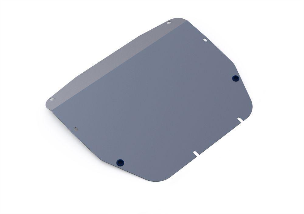Защита картера и КПП Rival, для Kia Sorento, алюминий 4 мм333.2811.1Защита картера и КПП для Kia Sorento , V -2,2; 2,4 2009-2012, крепеж в комплекте, алюминий 4 мм, Rival Алюминиевые защиты картера Rival надежно защищают днище вашего автомобиля от повреждений, например при наезде на бордюры, а также выполняют эстетическую функцию при установке на высокие автомобили. - Толщина алюминиевых защит в 2 раза толще стальных, а вес при этом меньше до 30%. - Отлично отводит тепло от двигателя своей поверхностью, что спасает двигатель от перегрева в летний период или при высоких нагрузках. - В отличие от стальных, алюминиевые защиты не поддаются коррозии, что гарантирует срок службы защит более 5 лет. - Покрываются порошковой краской, что надолго сохраняет первоначальный вид новой защиты и защищает от гальванической коррозии. - Глубокий штамп дополнительно усиливает конструкцию защиты. - Подштамповка в местах крепления защищает крепеж от срезания. - Технологические отверстия...