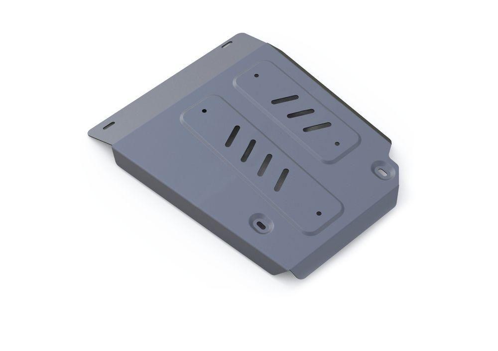 Защита топливного бака Rival, для Land Rover Discovery, алюминий 4 мм333.3126.1Защита топливного бака для Land Rover Discovery Sport, V-2,0(240hp); 2,2d (188hp), 2,2d (150hp) 2014-, крепеж в комплекте, алюминий 4 мм, Rival Алюминиевые защиты картера Rival надежно защищают днище вашего автомобиля от повреждений, например при наезде на бордюры, а также выполняют эстетическую функцию при установке на высокие автомобили. - Толщина алюминиевых защит в 2 раза толще стальных, а вес при этом меньше до 30%. - Отлично отводит тепло от двигателя своей поверхностью, что спасает двигатель от перегрева в летний период или при высоких нагрузках. - В отличие от стальных, алюминиевые защиты не поддаются коррозии, что гарантирует срок службы защит более 5 лет. - Покрываются порошковой краской, что надолго сохраняет первоначальный вид новой защиты и защищает от гальванической коррозии. - Глубокий штамп дополнительно усиливает конструкцию защиты. - Подштамповка в местах крепления защищает крепеж от срезания. ...