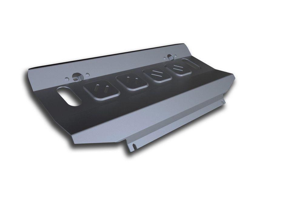 Защита радиатора Rival, для Mitsubishi Pajero Sport / Mitsubishi L200 2015-, алюминий, 4 мм333.4046.1Защита радиатора для Mitsubishi Pajero Sport , V - 3,0i 2016-/Mitsubishi L200, V - 2.4d; 2,4d H.P., 2015-, крепеж в комплекте, алюминий 4 мм, Rival Алюминиевые защиты картера Rival надежно защищают днище вашего автомобиля от повреждений, например при наезде на бордюры, а также выполняют эстетическую функцию при установке на высокие автомобили. - Толщина алюминиевых защит в 2 раза толще стальных, а вес при этом меньше до 30%. - Отлично отводит тепло от двигателя своей поверхностью, что спасает двигатель от перегрева в летний период или при высоких нагрузках. - В отличие от стальных, алюминиевые защиты не поддаются коррозии, что гарантирует срок службы защит более 5 лет. - Покрываются порошковой краской, что надолго сохраняет первоначальный вид новой защиты и защищает от гальванической коррозии. - Глубокий штамп дополнительно усиливает конструкцию защиты. - Подштамповка в местах крепления защищает крепеж от...