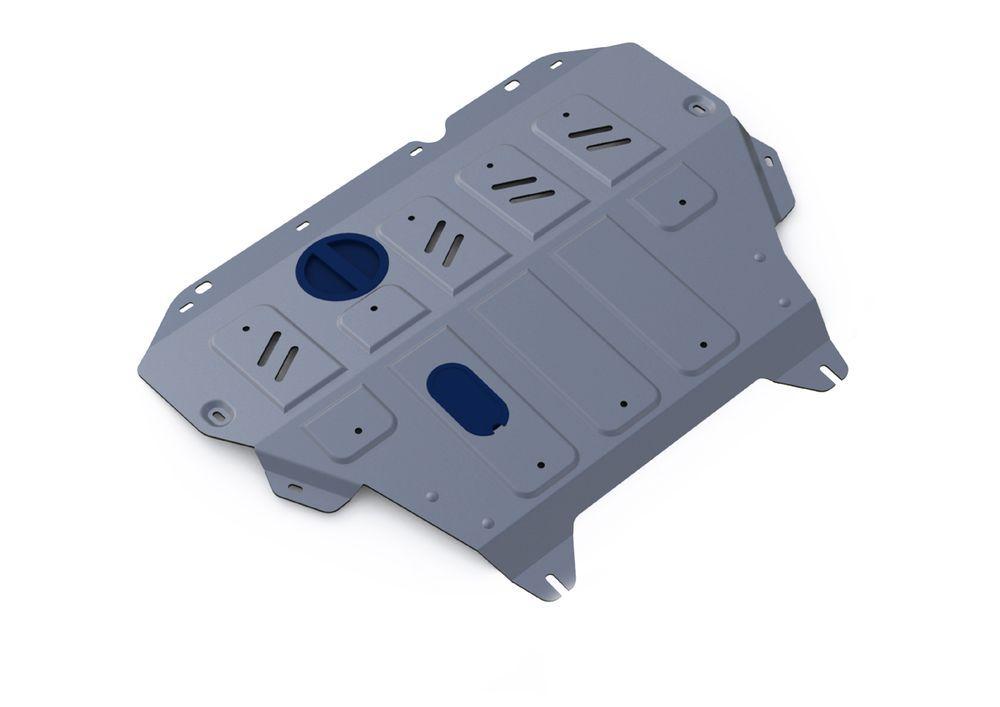 Защита картера и КПП Rival, для Nissan Sentra, алюминий 4 мм333.4151.1Защита картера и КПП для Nissan Sentra АКП, V-1,6 2014-, крепеж в комплекте, алюминий 4 мм, Rival Алюминиевые защиты картера Rival надежно защищают днище вашего автомобиля от повреждений, например при наезде на бордюры, а также выполняют эстетическую функцию при установке на высокие автомобили. - Толщина алюминиевых защит в 2 раза толще стальных, а вес при этом меньше до 30%. - Отлично отводит тепло от двигателя своей поверхностью, что спасает двигатель от перегрева в летний период или при высоких нагрузках. - В отличие от стальных, алюминиевые защиты не поддаются коррозии, что гарантирует срок службы защит более 5 лет. - Покрываются порошковой краской, что надолго сохраняет первоначальный вид новой защиты и защищает от гальванической коррозии. - Глубокий штамп дополнительно усиливает конструкцию защиты. - Подштамповка в местах крепления защищает крепеж от срезания. - Технологические отверстия там, где...