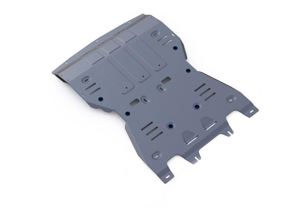 Защита КПП и РК Rival, для Porsche Macan, алюминий 4 мм333.4605.1Защита КПП и РК для Porsche Macan, V - 3,0; 3,6 2014-, крепеж в комплекте, алюминий 4 мм, Rival Алюминиевые защиты картера Rival надежно защищают днище вашего автомобиля от повреждений, например при наезде на бордюры, а также выполняют эстетическую функцию при установке на высокие автомобили. - Толщина алюминиевых защит в 2 раза толще стальных, а вес при этом меньше до 30%. - Отлично отводит тепло от двигателя своей поверхностью, что спасает двигатель от перегрева в летний период или при высоких нагрузках. - В отличие от стальных, алюминиевые защиты не поддаются коррозии, что гарантирует срок службы защит более 5 лет. - Покрываются порошковой краской, что надолго сохраняет первоначальный вид новой защиты и защищает от гальванической коррозии. - Глубокий штамп дополнительно усиливает конструкцию защиты. - Подштамповка в местах крепления защищает крепеж от срезания. - Технологические отверстия там, где...