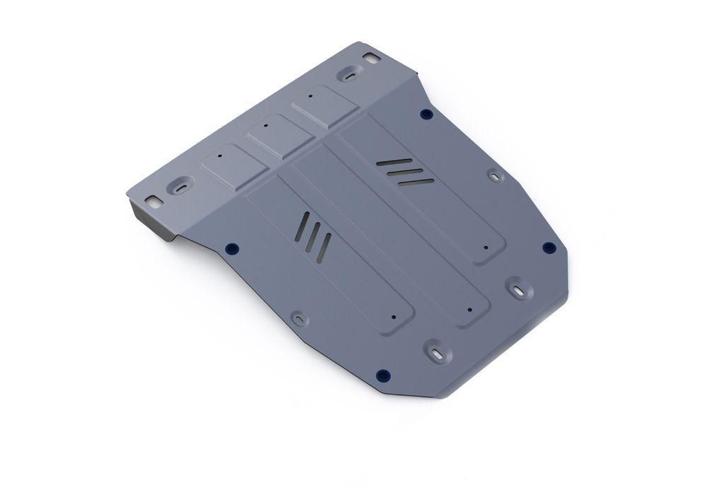 Защита картера Rival, для Porsche Cayenne, алюминий 4 мм333.4606.1Защита картера для Porsche Cayenne , V - 3,0TD; 4,1TD; 4,8T (Выводим) 2014-, крепеж в комплекте, алюминий 4 мм, Rival Алюминиевые защиты картера Rival надежно защищают днище вашего автомобиля от повреждений, например при наезде на бордюры, а также выполняют эстетическую функцию при установке на высокие автомобили. - Толщина алюминиевых защит в 2 раза толще стальных, а вес при этом меньше до 30%. - Отлично отводит тепло от двигателя своей поверхностью, что спасает двигатель от перегрева в летний период или при высоких нагрузках. - В отличие от стальных, алюминиевые защиты не поддаются коррозии, что гарантирует срок службы защит более 5 лет. - Покрываются порошковой краской, что надолго сохраняет первоначальный вид новой защиты и защищает от гальванической коррозии. - Глубокий штамп дополнительно усиливает конструкцию защиты. - Подштамповка в местах крепления защищает крепеж от срезания. -...