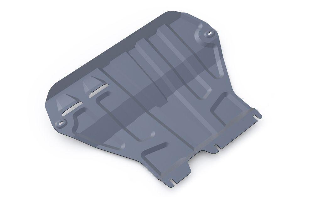 Защита картера и КПП Rival, для Skoda Octavia A7, алюминий 3 мм333.5111.1Защита картера и КПП для Skoda Octavia A7(кроме Webasto), V - 1,4TFSI; 1,8TSI; 1,6MPI 2013-, крепеж в комплекте, алюминий 3 мм, Rival Алюминиевые защиты картера Rival надежно защищают днище вашего автомобиля от повреждений, например при наезде на бордюры, а также выполняют эстетическую функцию при установке на высокие автомобили. - Толщина алюминиевых защит в 2 раза толще стальных, а вес при этом меньше до 30%. - Отлично отводит тепло от двигателя своей поверхностью, что спасает двигатель от перегрева в летний период или при высоких нагрузках. - В отличие от стальных, алюминиевые защиты не поддаются коррозии, что гарантирует срок службы защит более 5 лет. - Покрываются порошковой краской, что надолго сохраняет первоначальный вид новой защиты и защищает от гальванической коррозии. - Глубокий штамп дополнительно усиливает конструкцию защиты. - Подштамповка в местах крепления защищает крепеж от срезания. ...