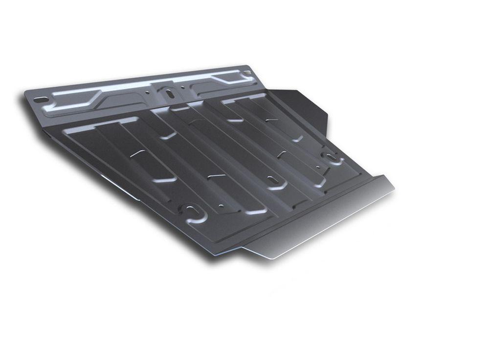 Защита картера Rival, для Lexus LX 450d, Lexus LX 570, Toyota LC200, 1 часть, алюминий 4 мм333.5713.2Защита картера часть 1 для Lexus LX 450d , V - 4,5TD 2015-; Lexus LX 570 , V - 5,7 2008-2015 2015-; Toyota LC200 , V - 4,5TD, 4,6, 4,7 2007-2015 2015-, крепеж в комплекте, алюминий 4 мм, Rival Алюминиевые защиты картера Rival надежно защищают днище вашего автомобиля от повреждений, например при наезде на бордюры, а также выполняют эстетическую функцию при установке на высокие автомобили. - Толщина алюминиевых защит в 2 раза толще стальных, а вес при этом меньше до 30%. - Отлично отводит тепло от двигателя своей поверхностью, что спасает двигатель от перегрева в летний период или при высоких нагрузках. - В отличие от стальных, алюминиевые защиты не поддаются коррозии, что гарантирует срок службы защит более 5 лет. - Покрываются порошковой краской, что надолго сохраняет первоначальный вид новой защиты и защищает от гальванической коррозии. - Глубокий штамп дополнительно усиливает конструкцию защиты. - Подштамповка...